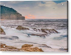 Sunrise Seascape And Headland Acrylic Print