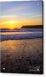 Sunset At Polzeath Acrylic Print