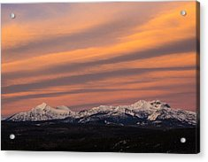 Sunset In Glacier National Park Acrylic Print