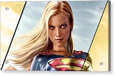 Supergirl Collection Acrylic Print by Marvin Blaine
