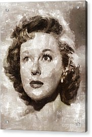 Susan Hayward, Vintage Hollywood Actress Acrylic Print by Mary Bassett