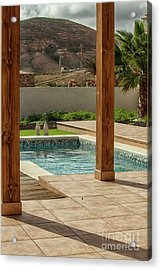 Swimming Pool With View Acrylic Print