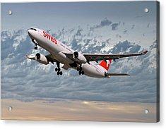 Swiss Airbus A330-343 Acrylic Print