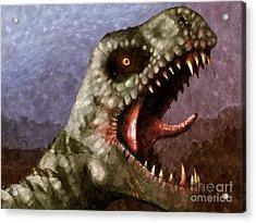 T-rex  Acrylic Print by Pixel  Chimp
