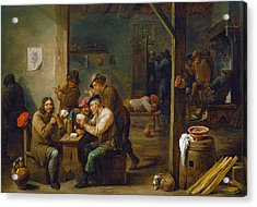 Tavern Scene Acrylic Print by David Teniers the Younger