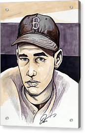 Ted Williams Acrylic Print by Dave Olsen
