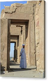 Acrylic Print featuring the photograph Temple Of Kom Ombo by Silvia Bruno