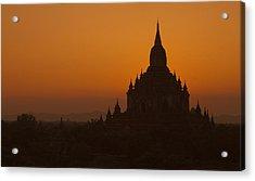 Temples Of Bagan Acrylic Print by Arabesque Saraswathi
