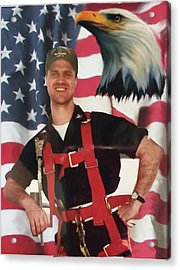 Texas Hero Acrylic Print