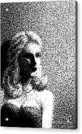 The Actress  Acrylic Print by Dan Lockaby