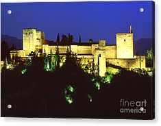 The Alcazaba The Alhambra Acrylic Print by Guido Montanes Castillo