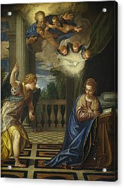 The Annunciation Acrylic Print by Paolo Veronese