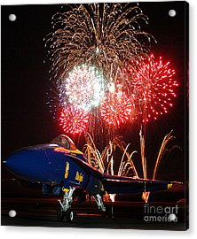the Blue Angels US Navy    Acrylic Print by Celestial Images