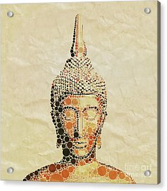 The Buddha, Pop Art By Mary Bassett Acrylic Print