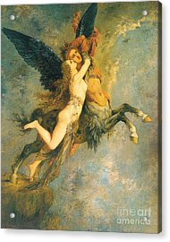 The Chimera Acrylic Print by Gustave Moreau