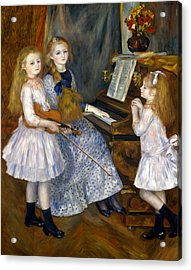 The Daughters Of Catulle Mendes Acrylic Print by Pierre-Auguste Renoir