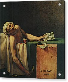 The Death Of Marat  Acrylic Print