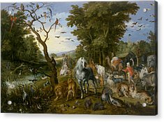 The Entry Of The Animals Into Noah's Ark Acrylic Print by Jan Brueghel the Elder