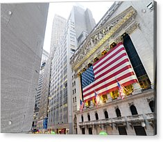 The Facade Of The New York Stock Acrylic Print by Justin Guariglia