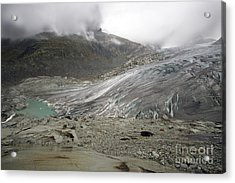 The Glacier Acrylic Print by Angel  Tarantella