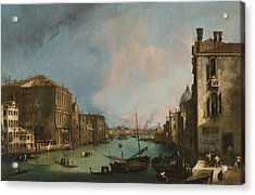 The Grand Canal In Venice With The Palazzo Corner Ca'grande Acrylic Print by Canaletto