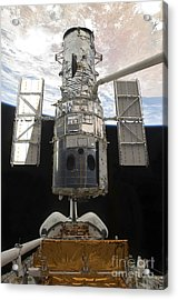 The Hubble Space Telescope Is Released Acrylic Print by Stocktrek Images