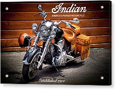 The Indian Motorcycle Acrylic Print by David Patterson