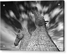 The Kelpies At Falkirk Acrylic Print