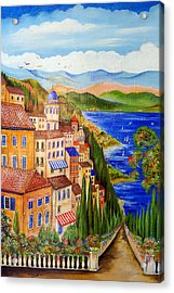 Acrylic Print featuring the painting The Lake by Roberto Gagliardi