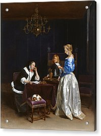 The Letter Acrylic Print by Gerard ter Borch