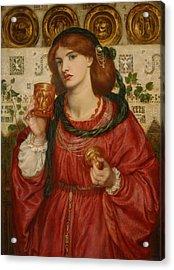 The Loving Cup Acrylic Print by Dante Gabriel Rossetti