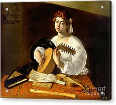The Lute-player Acrylic Print by Celestial Images