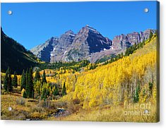 Acrylic Print featuring the photograph The Maroon Bells by Kate Avery
