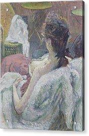 The Model Resting Acrylic Print by Henri de Toulouse-Lautrec