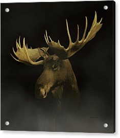 Acrylic Print featuring the digital art The Moose by Ernie Echols
