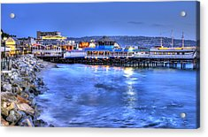 Redondo Landing At Night Acrylic Print