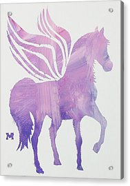 Acrylic Print featuring the painting The Pink Pegasus by Candace Shrope