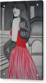 The Red Dress Acrylic Print