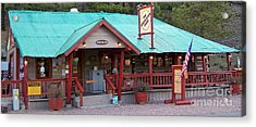 Acrylic Print featuring the photograph The Rendezvous Diner by Juls Adams