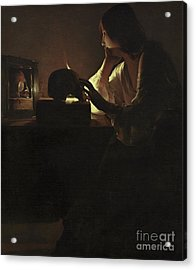 The Repentant Magdalen Acrylic Print