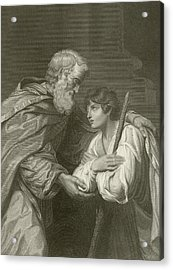 The Return Of The Prodigal Son Acrylic Print by English School