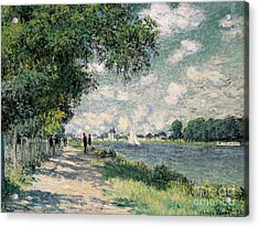 The Seine At Argenteuil Acrylic Print by Claude Monet