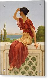 The Signal Acrylic Print by John William Godward