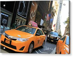 The Streets Of New York City Acrylic Print by Dan Sproul