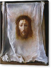 The Veil Of Veronica Acrylic Print by Domenico Fetti