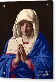 The Virgin In Prayer Acrylic Print
