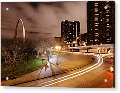 Theatrical Lights Give The Surface Acrylic Print by Jim Richardson