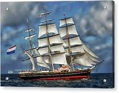 Three Mast Schooner Acrylic Print