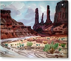 Three Sisters Acrylic Print by Donald Maier