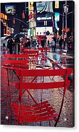 Times Square Acrylic Print by Benjamin Matthijs